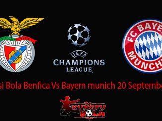 Prediksi Bola Benfica Vs Bayern munich 20 September 2018