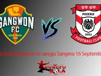 Prediksi Bola Gangwon Vs sangju Sangmu 16 September 2018