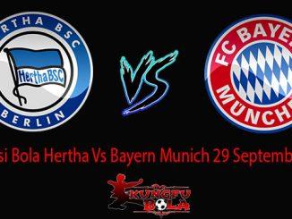 Prediksi Bola Hertha Vs Bayern Munich 29 September 2018