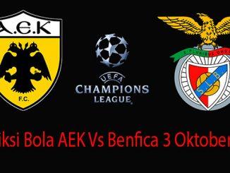 Prediksi Bola AEK Vs Benfica 3 Oktober 2018