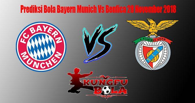 Prediksi Bola Bayern Munich Vs Benfica 28 November 2018
