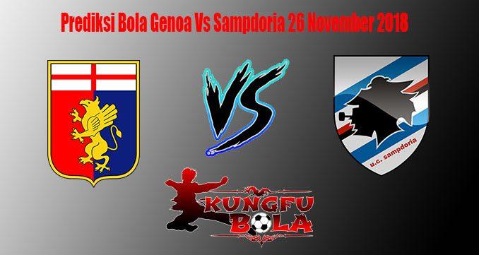 Prediksi Bola Genoa Vs Sampdoria 26 November 2018