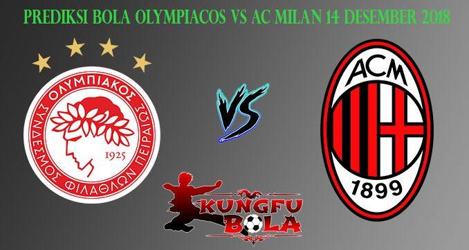 Prediksi Bola Olympiacos Vs AC Milan 14 Desember 2018